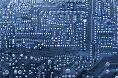 Blue circuit board Stock Photo