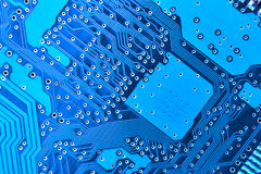 Blue circuit board Royalty Free Stock Photos