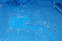 Blue circuit board Royalty Free Stock Image