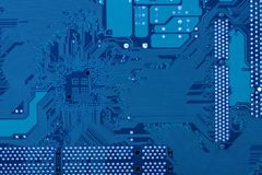 Blue circuit board Royalty Free Stock Photography