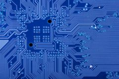 Blue circuit board Stock Photography