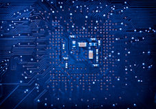 Blue circuit board background Royalty Free Stock Photo