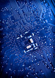 Blue circuit board background of computer Stock Photo
