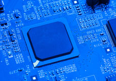 Blue circuit board background of computer Stock Image