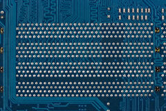 Blue circuit board, a background or texture Royalty Free Stock Photo