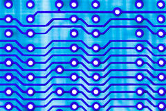 Blue Circuit board close up. Stock Photography