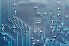 Blue Circuit Board Close Up Stock Photos