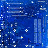 Blue circuit board. Of computer Royalty Free Stock Images