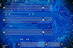 Blue circuit board of computer Royalty Free Stock Photo