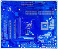 Blue circuit board of computer Royalty Free Stock Images