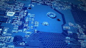 Blue Circuit Board stock video footage