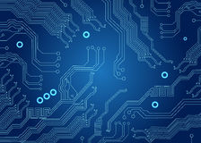 Blue circuit board Stock Photo