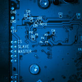 Blue circuit harddisk board Stock Images