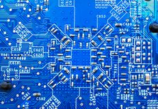 Blue circuit surface stock images
