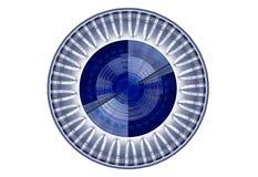 Blue circular abstract decoration Stock Image