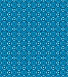 Blue circular abstract figure pattern Royalty Free Stock Images