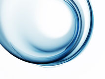 Blue circular abstract motion on white background Stock Photos