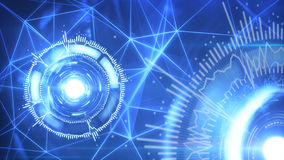 Blue circular elements futuristic background Royalty Free Stock Photos