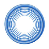 Blue circular frame Royalty Free Stock Photos