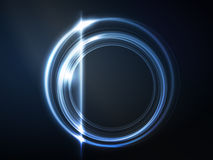 Blue circular frame Royalty Free Stock Image