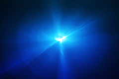 Blue circular glow wave. lighting effect abstract background. Royalty Free Stock Photography
