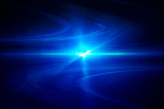Blue circular glow wave. lighting effect abstract background. Stock Photo