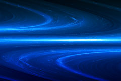 Blue circular glow wave. lighting effect abstract background. Stock Images