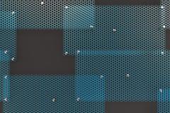 Blue circular grates on dark grey background Royalty Free Stock Images