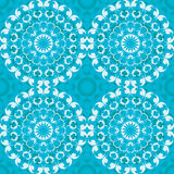 Blue circular seamless pattern Stock Image