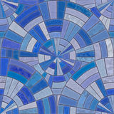 Blue circular tiles Stock Photography