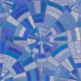 Blue circular tiles Stock Photography