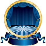 Blue circus circle Stock Photo
