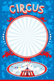 Blue circus poster. With space for text Royalty Free Stock Photography