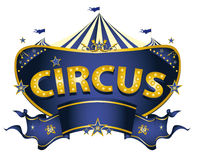 Blue circus sign Stock Photo