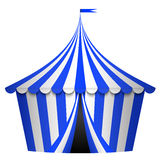 Blue circus tent Stock Images