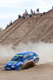 Blue Citroen at rally Stock Images