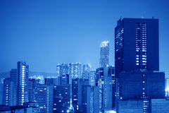 Blue city background Royalty Free Stock Image
