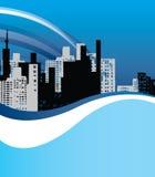 Blue city background Stock Image