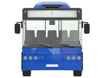Blue City Bus urban Isolated on a white background transmilenio 3D rendering stock illustration