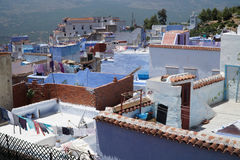 Blue city of Chefchaouen in northern Morocco. Royalty Free Stock Images