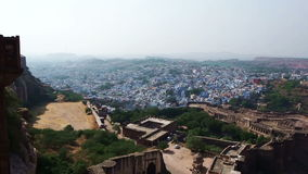 Blue City of India stock video footage