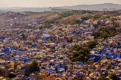 Blue city jodhpur aerial view from meherangarh fort