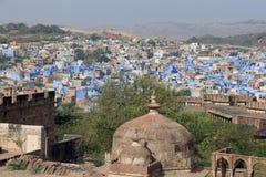 Blue city of Jodhpur from Mehrangarh Fort Stock Photos