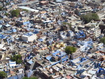 Blue city in Jodhpur, Rajasthan, India, view from the top Royalty Free Stock Photo