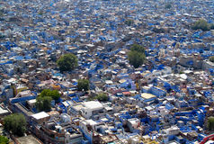 Blue city in Jodhpur, Rajasthan, India, view from the top Stock Image