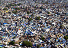Blue city in Jodhpur, Rajasthan, India, view from the top Royalty Free Stock Images