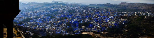Blue City - Jodhpur. The Blue City of Rajasthan, Jodhpur is very popular for its blue houses which the residents paint. It is believed that the blue color keeps royalty free stock photography