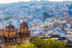Blue City and Mehrangarh Fort Royalty Free Stock Photo