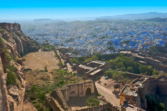 The blue city of Rajasthan Jodhpur Royalty Free Stock Image