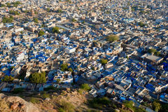 The blue city of Rajasthan Jodhpur Royalty Free Stock Photo